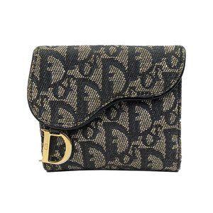 Dior Oblique Compact Oblique Saddle Wallet